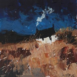 November Browns by George Somerville - Original on Board sized 6x6 inches. Available from Whitewall Galleries